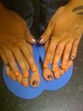 Orange polish and Checkerboard MINX