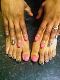 Pink polish and Zebra MINX