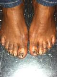 Gold Swarovski Toes
