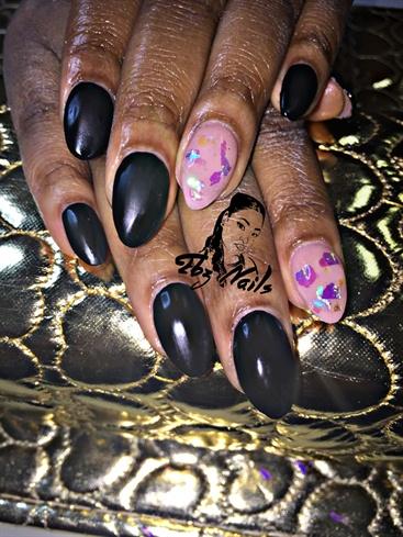 Black Matte W/Mylar Embellishment