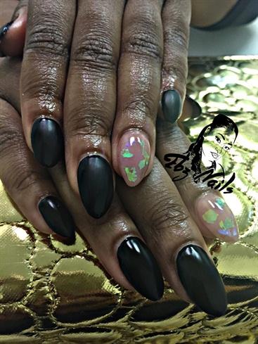 Black Matte Finish W/ Mylar Embellishmen