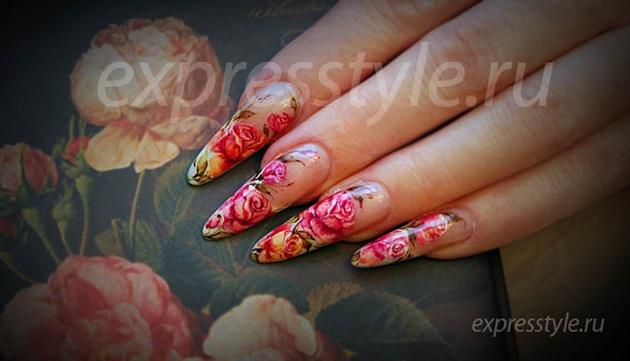 Watercolors roses