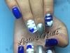 Blue White & Silver