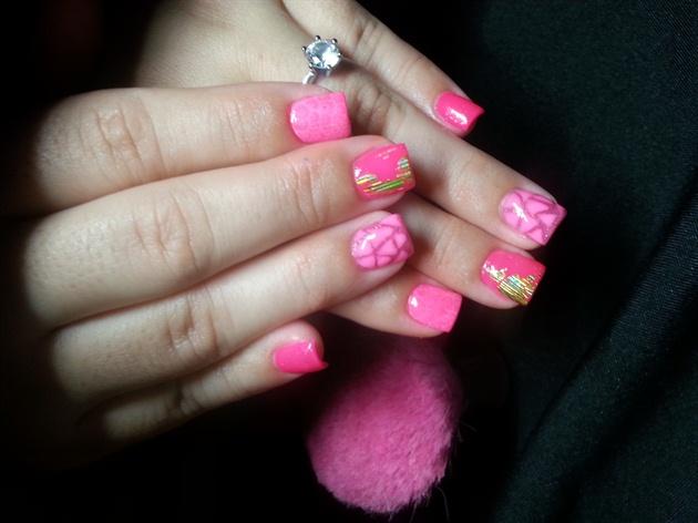Pink Nails Cancer