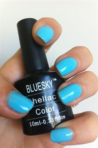Light Blue Shellac Nail Art HD Wallpaper