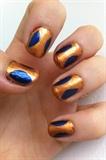 Gold framed Blue