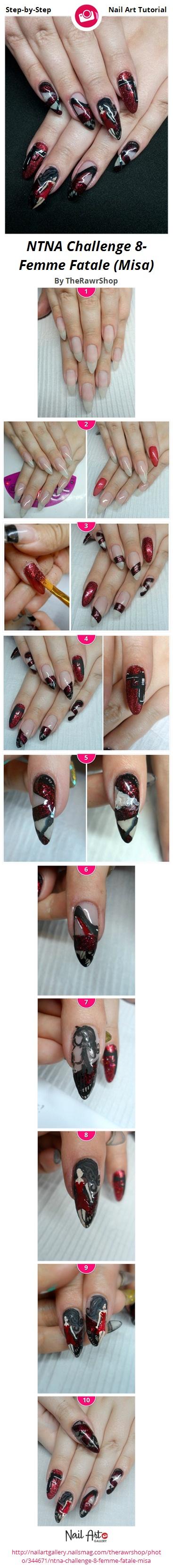 NTNA Challenge 8- Femme Fatale (Misa) - Nail Art Gallery