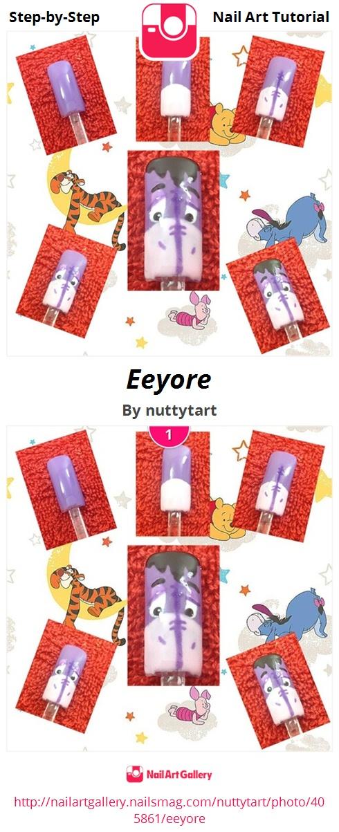 Eeyore - Nail Art Gallery