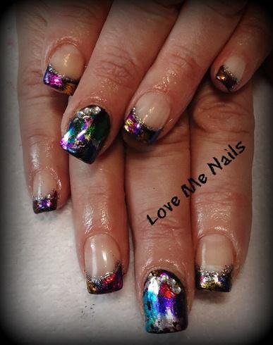 foil, giltter nails!