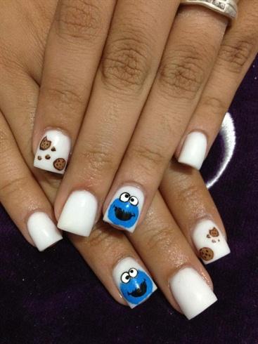 Cookie Monster Nail Art Gallery