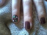 brown manicure