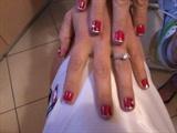 red manicure