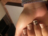 french in short nails