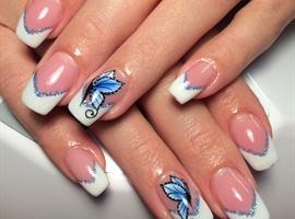 nail art: Gel Nails With One Move Nail Art