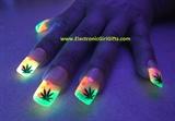BiolumiNails - Pink/Green Cannabis Glow
