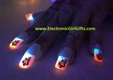BioLumiNails - Pink/Blue Hibiscus Glow