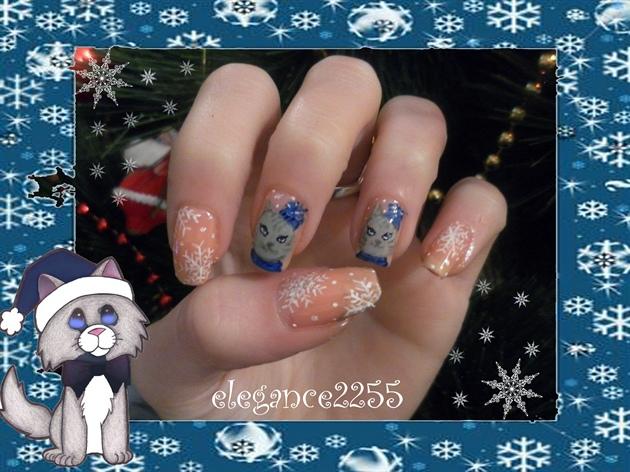 Blue Christmas Cats