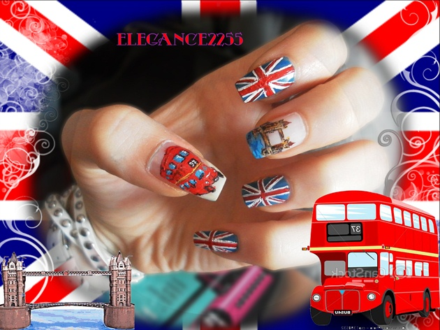 England Inspired Nails