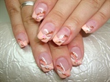 Nail art salmone