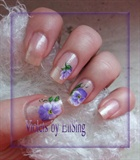 My first Violets - mini natural nails