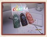 Aboriginal design nail samples