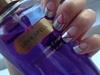 Grey Pink Nails