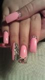 bby pink w/ zebra print and rhinestones