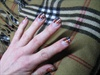 strpies nail art burberry style