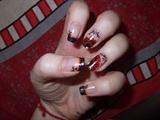 dark french & red flowers