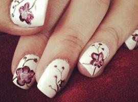 nail art: Nail#flower#orchid#