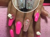 Pink Aqua Nails