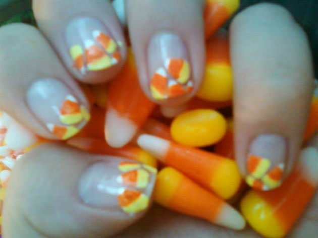 Candy Corn Nail Art Gallery