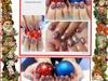 Christmas balls  nail art