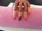 Utube Minnie Mouse Nail Art