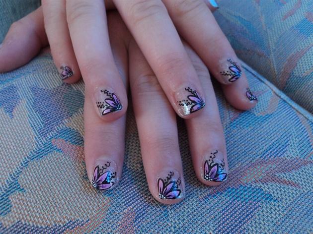 Дизайн ногтей пластинами