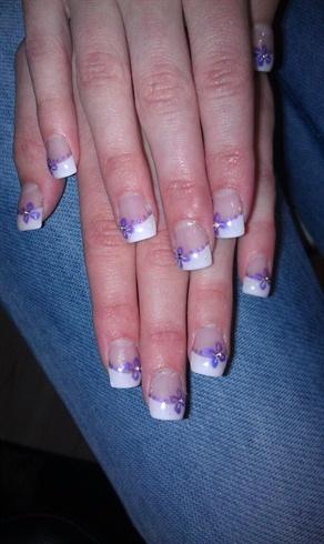Cute purple french