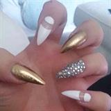 Gold White Stilletto