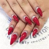 Festive Stiletto nails