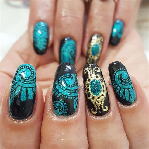 egyptian jewel  nail art gallery