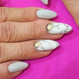 Marble with foil accent