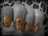 Gold swirl Nails