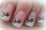 Plain Swirl Nails
