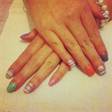 Pastel Aztec nail's