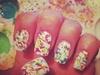 Abstract Paint blot nails