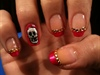 Ed Hardy inspired nails