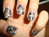 Silver Glitter Leopard