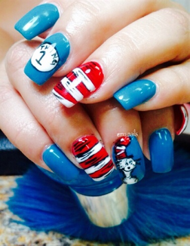 Dr. Seuss Nail Art - Nail Art Gallery