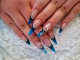 black & blue stiletto