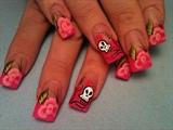 pink roses w/ a lil rockin & roll