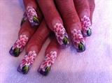 mix acrylic w/ pink flowers